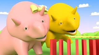 Apprendre les formes avec les dominos - Dino le Dinosaure 👶 Dessin animé éducatif pour enfants