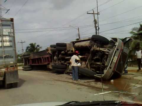 Drive by Accident in Puerto Cortes, Honduras