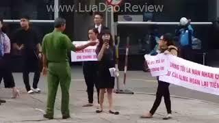 Công ty alma lừa đảo bị biểu tình trước tòa nhà Slim Tower