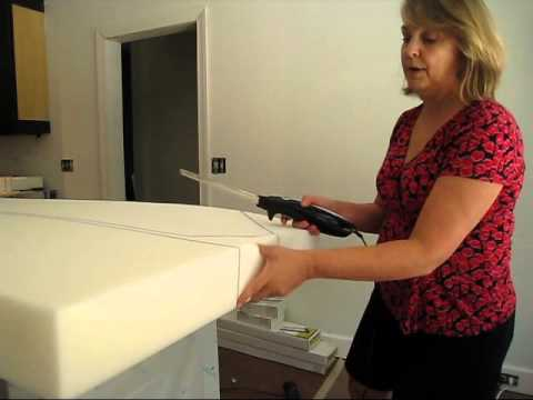 Cutting Upholstery Foam at Home - YouTube