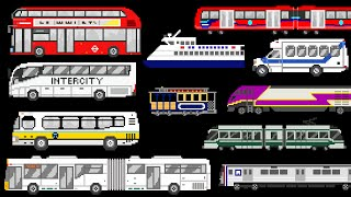 Public Transportation Vehicles - Trains, Buses, Boat - The Kids' Picture Show (Fun & Educational)