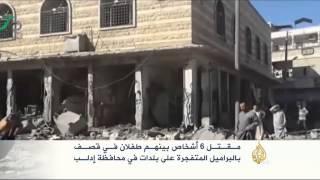 حرائق في حي جوبر بالعاصمة دمشق جراء القصف