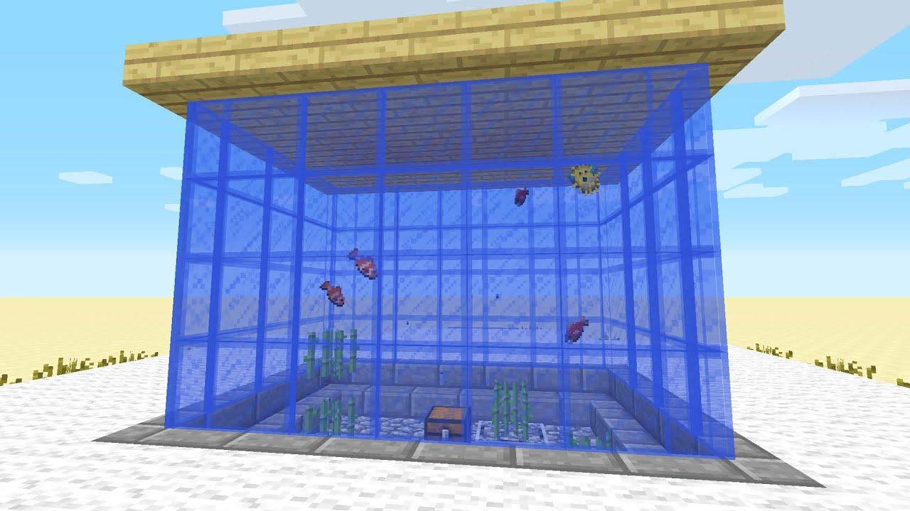 minecraft aquarium bauen