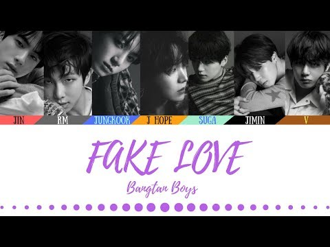 BTS (방탄소년단) - FAKE LOVE (Official Audio) - Color coded lyrics (Han/Rom/Eng)