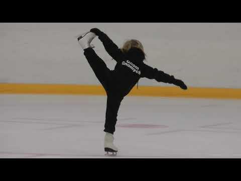 Саша Плющенко готовит первую программу для соревнований.1.02.18 Академия Плющенко