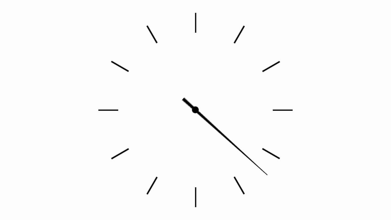Simple analog clock - seconds clock hand - YouTube