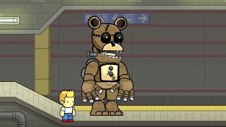 Scribblenauts Unlimited Speed Create FNaF World Bubba in Object Editor