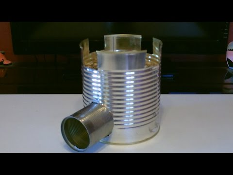 """Homemade STEEL CAN Rocket Stove! - The """"BIG CAN..."""