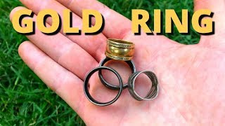 WOW! It's a GOLD RING! - Unexpected Find While Metal Detecting Underwater! (Scuba Diving)