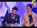 Fawad Khan & Sanam Saeed win Best on screen couple Award for Zindagi Gulzar Hai  HumTV 2014 awards.