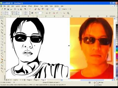 CorelDraw Tutorial Vector Line Art ( INDEGRA12 )