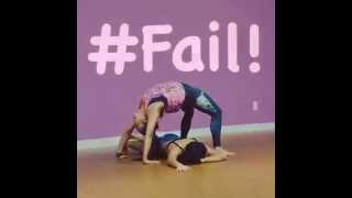 Powergirls Flying Bow Acro Yoga FUNNY FAIL!