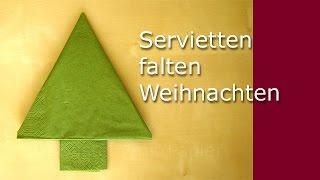 play weihnachtsdeko basteln servietten falten tannenbaum. Black Bedroom Furniture Sets. Home Design Ideas