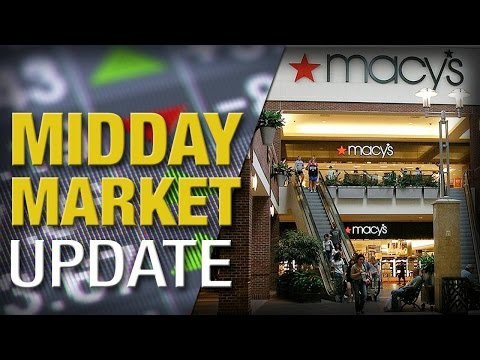 Stocks Mixed After Initial Gains, Macy's Tumbles on Lower Sales
