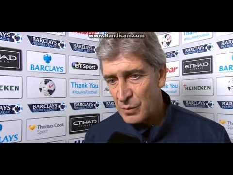 Manuel Pellegrini post match interview Man City-Everton