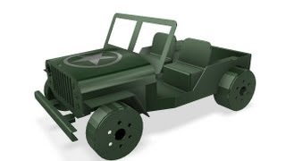 Autodesk Inventor - Sheet Metal Willys Jeep