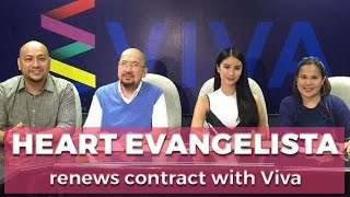 Heart Evangelista renews contract with Viva!