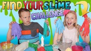 Find Your Slime Ingredients Challenge | Alyssa vs David