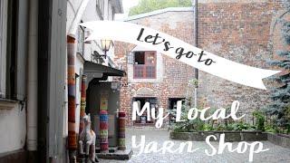 A walk to my Local yarn shop (Hobbywool) & Riga's old town - Mandarine's