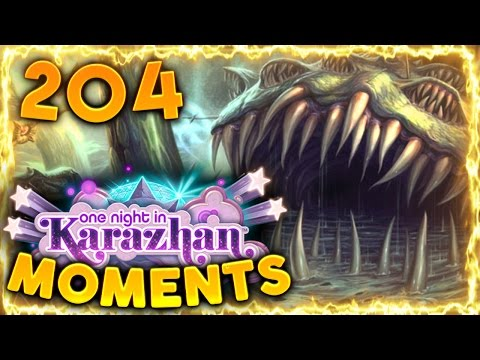 Hearthstone Karazhan Daily Funny and Lucky Moments Ep. 204   Crazy Crazy Yogg!!!