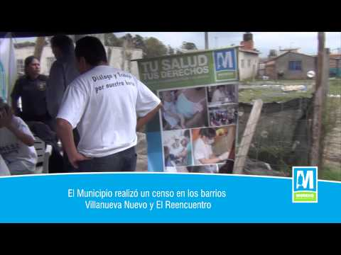 El Municipio realizó un censo en los barrios Villanueva Nuevo y El Reencuentro