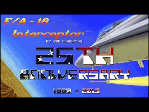 The incredible F/A-18 Interceptor Commodore AMIGA 25th Anniversary