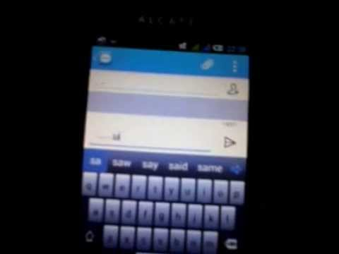 Alcatel One Touch Glory 2 - Keyboard problem