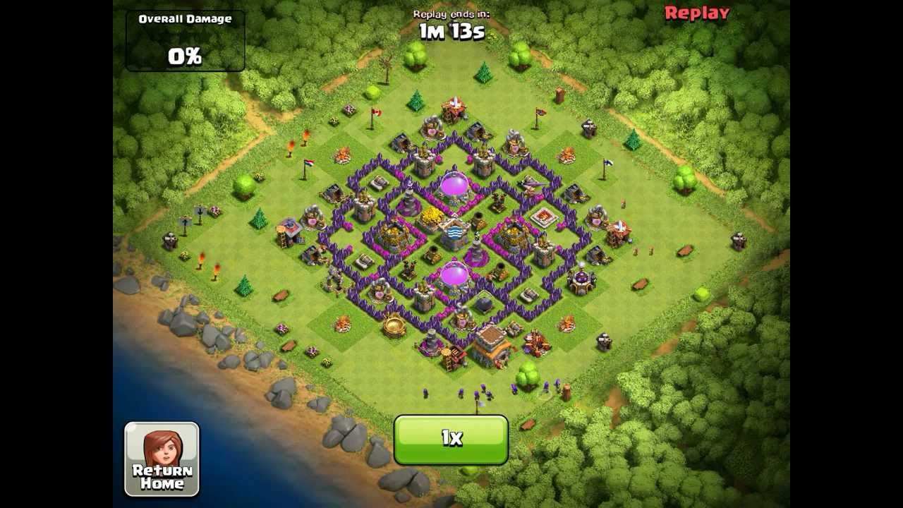 Clash of Clans Town Hall Level 8 Farming