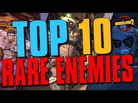 TOP 10 RAREST ENEMIES IN BORDERLANDS 2 #Borderlands