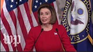 Watch live: Pelosi holds news conference day after first public impeachment hearing