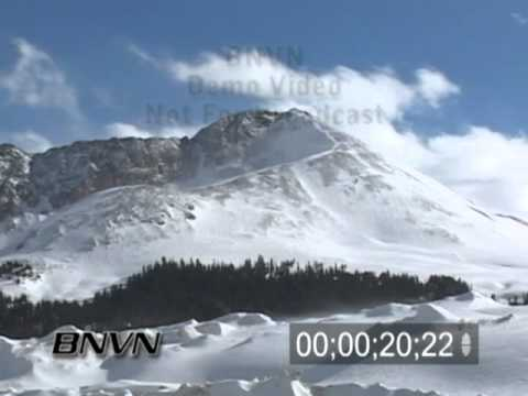 Time-lapse footage of the Rocky Mountains during the winter
