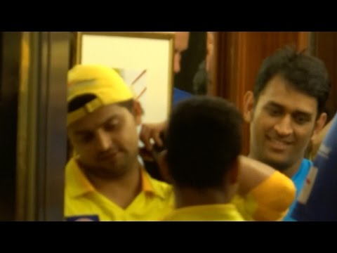 Chennai Super Kings Team MS Dhoni Suresh Raina