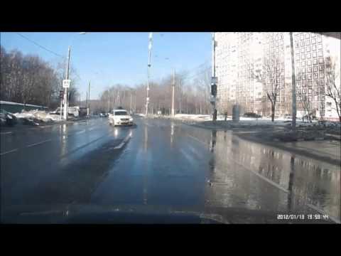 ДТП Subaru Forester SF и Nissan на литовском 10.03.16