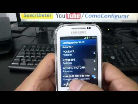como configurar wifi Samsung Galaxy chat español Full HD