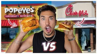 Popeyes VS Chik fil A Chicken Sandwich *Who's is Better?* (TASTE TEST)