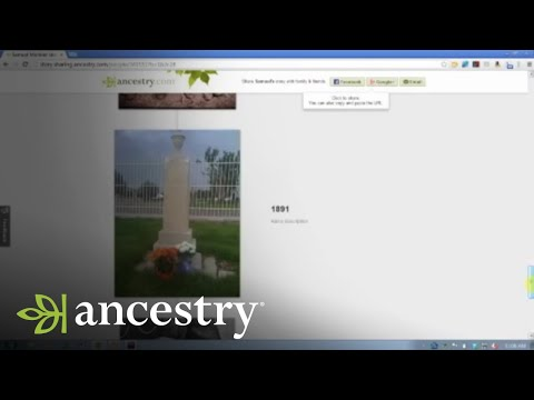 Ancestry.com Online Family Trees: Story View