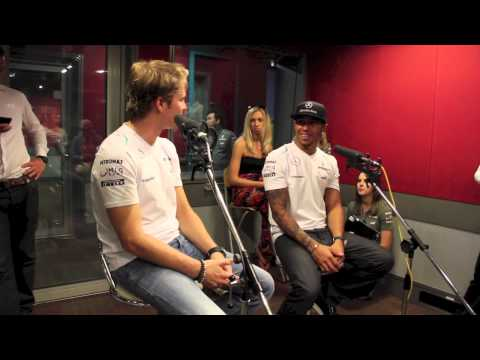 Jinnyboy hangs out with Lewis Hamilton & Nico Rosberg