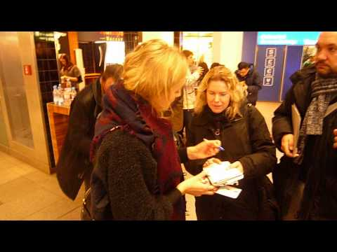 Toni Garrn signing Autographs at Berlinale 2015