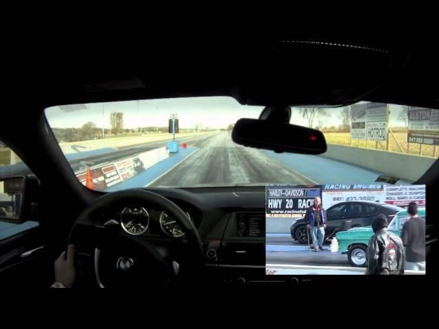 BMW X6 50i 4.4L V8 Twin Turbo TT 1/4 Quarter Mile Great Lakes Dragaway