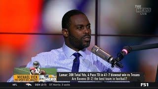 THE HERD | Michael Vick react to Lamar: 308 Yds, 4 Pass TD in 41-7 blowout win vs Texans