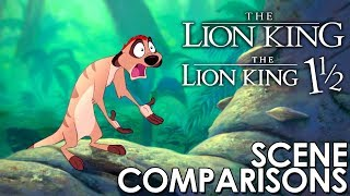 The Lion King (1994) and The Lion King 1½ (2004) - scene comparisons
