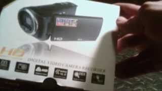HD high definition digital video camera (unboxing)