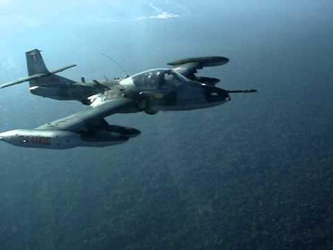 Interceptação de caça da força aérea Peruana A-37B