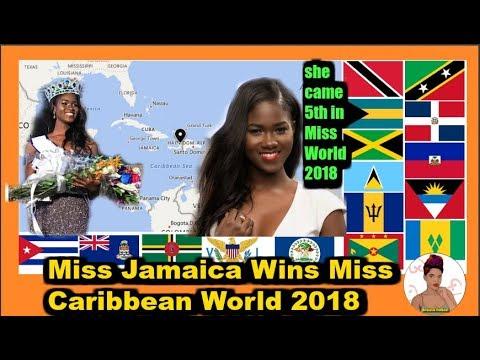 Miss Jamaica Win Miss Caribbean World 2018 thumbnail