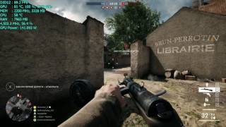 AMD RX 480 OC Battlefield 1 DX12 Maxed Out Gameplay