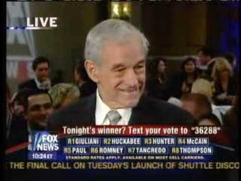 Ron Paul Florida Post Debate w/ Hannity & Colmes 10-21-07