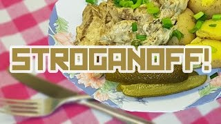 STROGANOFF for one - Cooking with Boris
