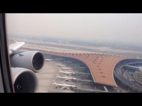 12 Takeoffs Airbus A380 by Qantas, Emirates, Air France and Lufthansa