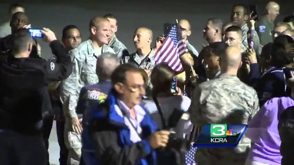 Raw video: Sacramento hero Spencer Stone arrives