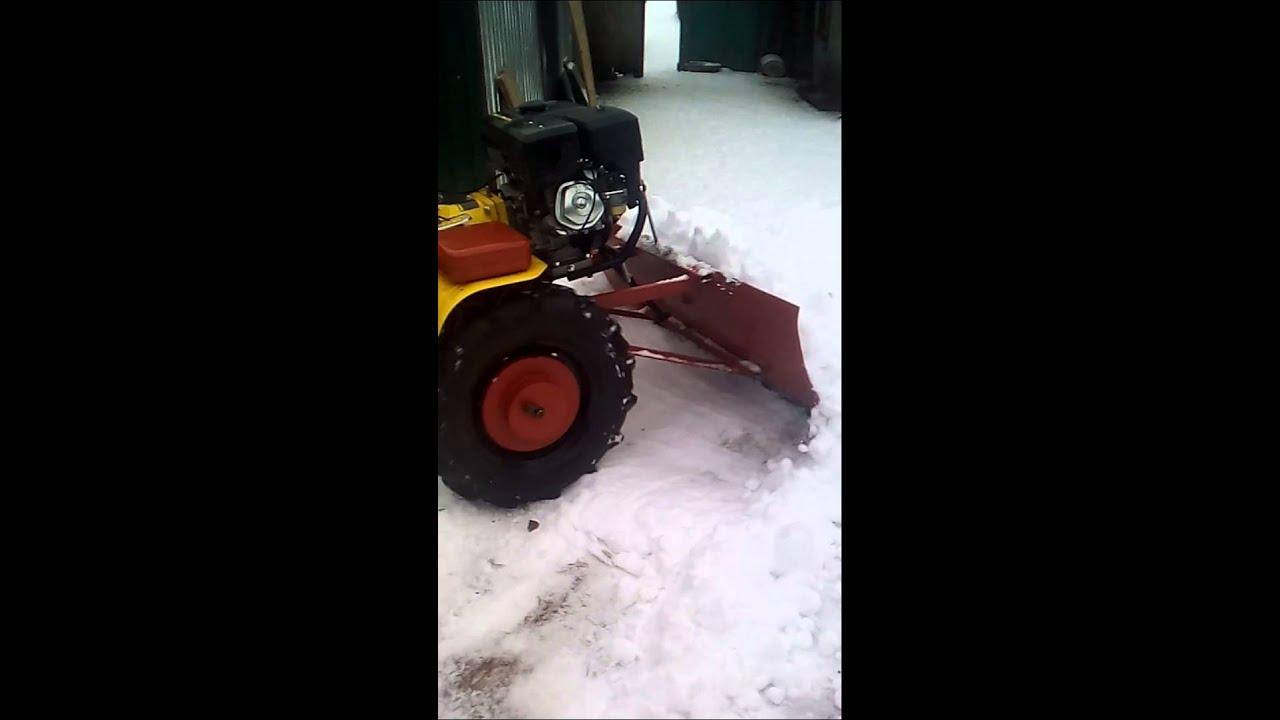 Как сделать мотоблок по снегу 169